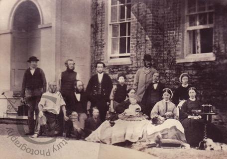Household servants at Westbury Hall
