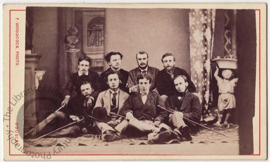 Eight men on the Isle of Man