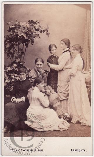 Six young women