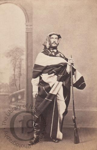 Unidentified man in Arab costume