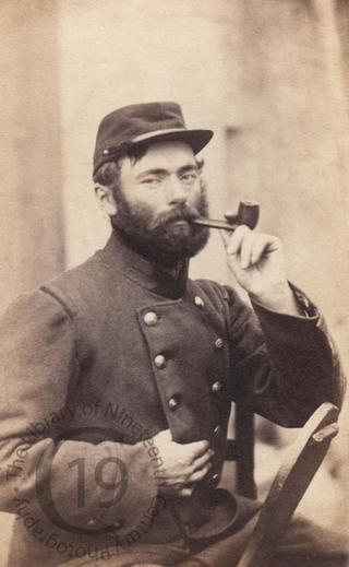 A pipe smoker