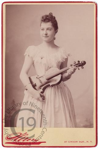 Nettie Carpenter with violin