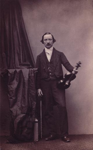 Unidentified man with a violin