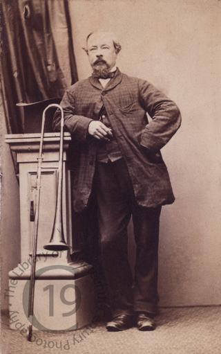 Unidentified man with a trombone