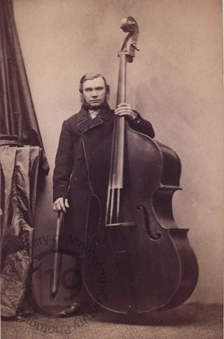 Unidentified man with a cello