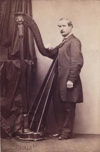 Unidentified man with a harp