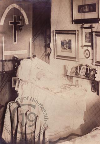Baby in domestic interior
