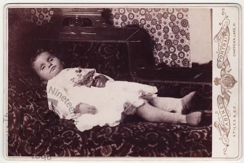 Infant with open eyes
