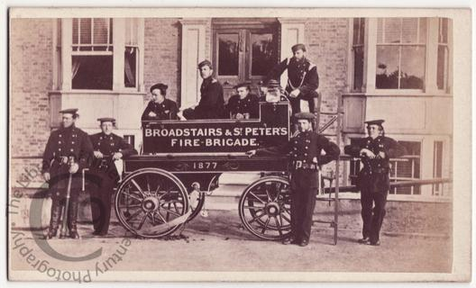 Firemen and their fire engine