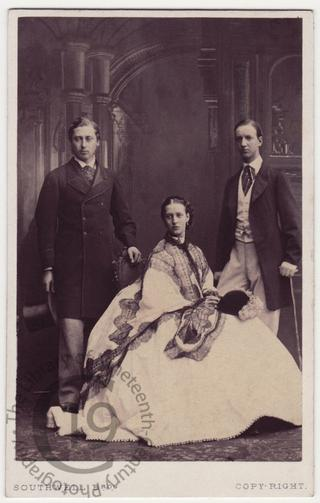 Princess Alexandra with husband and brother