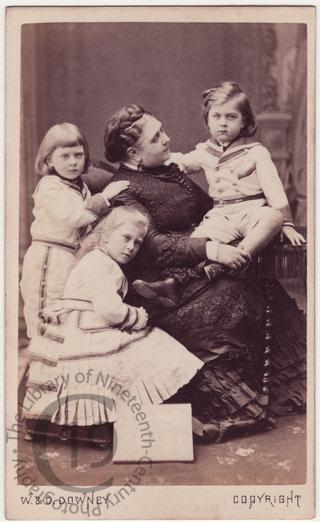 Duchess of Teck and her children