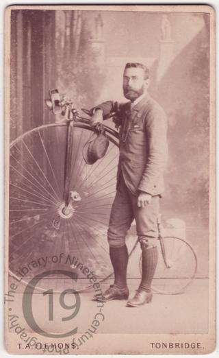 Man with high wheeler