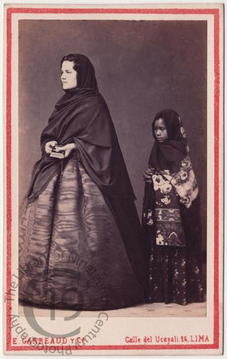 Señorita Abruyes and servant girl