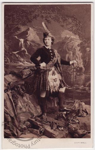 Lydia Thompson 'in Scotch dress'