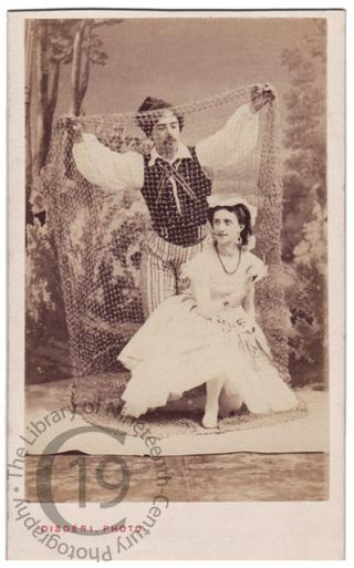 Mlle. Martha Mouravieva and Louis Mérante