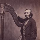 Charles Oberthur and his harp