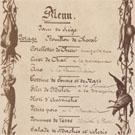 A menu during the Siege of Paris
