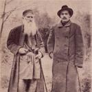 Leo Tolstoy and Maxim Gorky