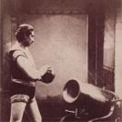 Strongman with cannonball