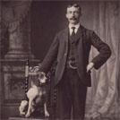 Unidentified man and his dog