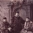 Four men in fur coats