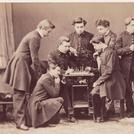 French students playing chess