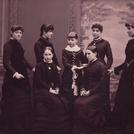 Seven girls in mourning