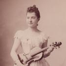Nettie Carpenter with violin