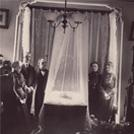 Mourners viewing a corpse
