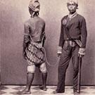 Javanese policeman with prisoner