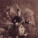 Lydia Thompson 'in Scotch dress'